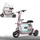 WLY Bicicleta eléctrica Plegable de Tres Ruedas para Adultos pink