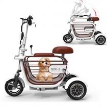 WLY Bicicleta eléctrica Plegable de Tres Ruedas para Adultos white