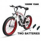XXCY S02, Bicicleta Eléctrica, Bicicleta De Montaña Eléctrica De 26 », 1000w 15ah, Dos Baterías