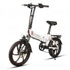 yorten 20 Pulgadas Plegable E-Bike Scooter Bicicleta Eléctrica blanca