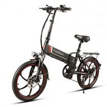 yorten 20 Pulgadas Plegable E-Bike Scooter Bicicleta Eléctrica black